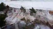 Storm surge pours over Avon beaches