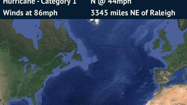 Forecast Track for Hurricane Ophelia (detailed)
