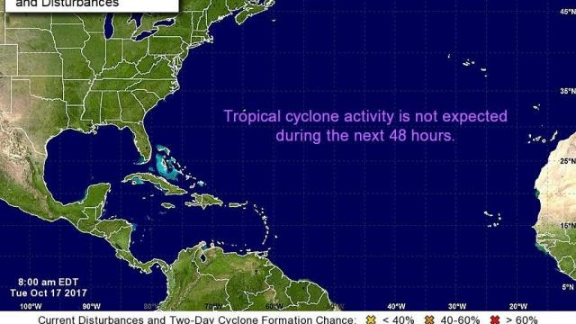 Hurricane Center: No storm activity expected for next 48 hours