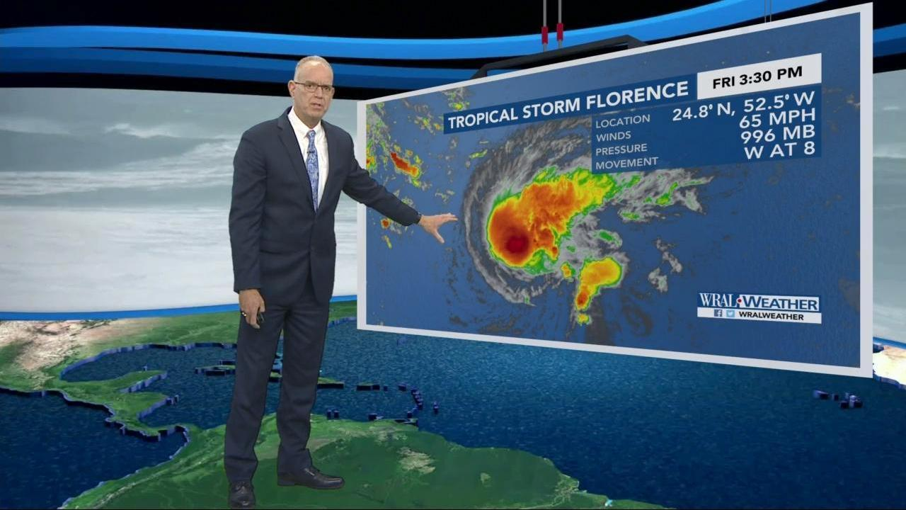 Friday Evening Update Florence Could Get Closer To Nc Wral Com