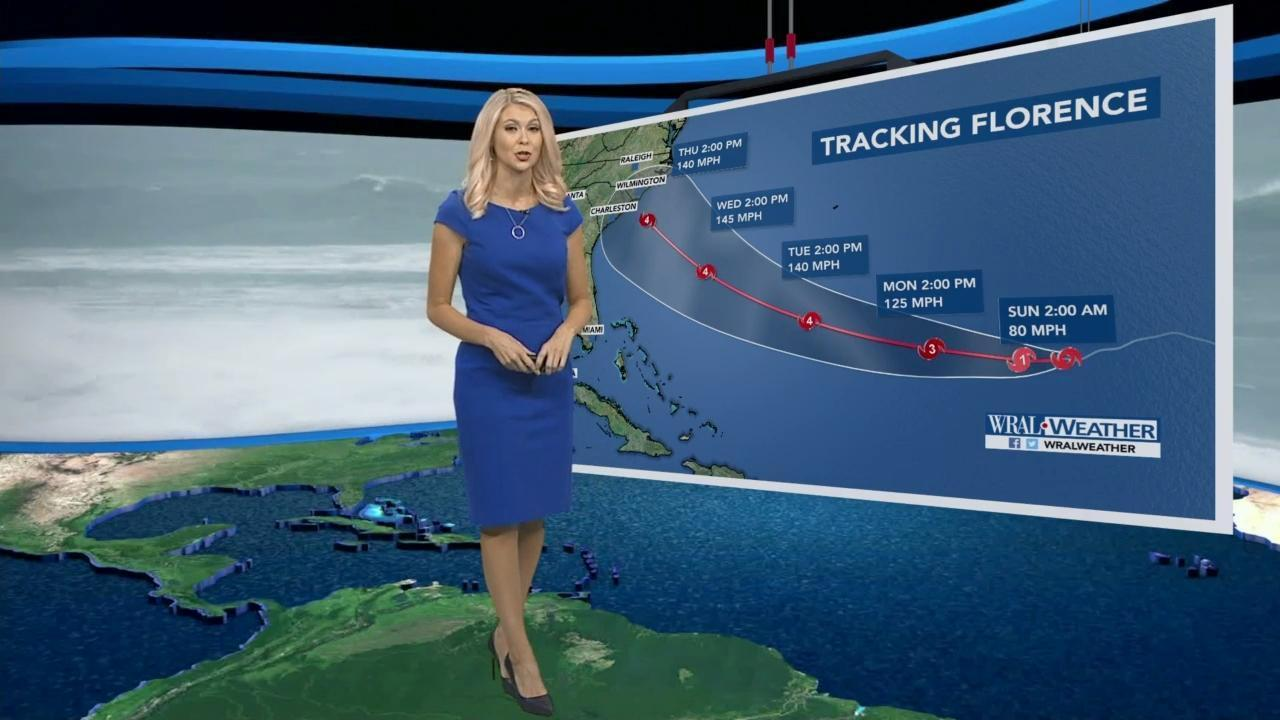 Saturday Night Update Florence S Projected Track Clips Raleigh Wral Com