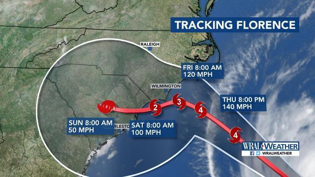 Hurricane Florence 11 am path update