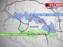 Raleigh officials to monitor Crabtree, Walnut creeks for flooding