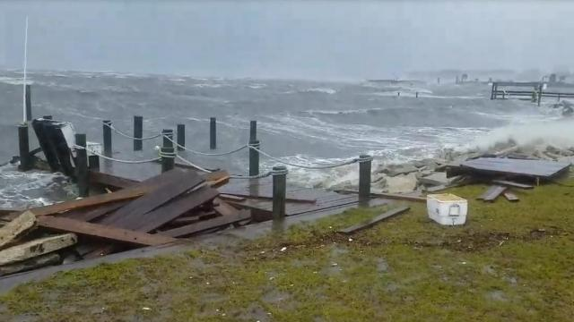 Salter Path Nc >> Raw Waves Smash Dock In Salter Path Wral Com