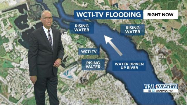 Maze: Wind driven surge caused flooding at WCTI :: WRAL com
