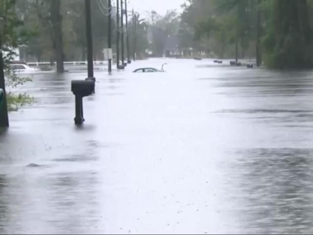 Flooding in Jacksonville, N.C., after Florence soaked North Carolina.<br/>Web Editor: Alfred Charles