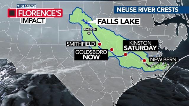 Neuse River crests in Goldsboro