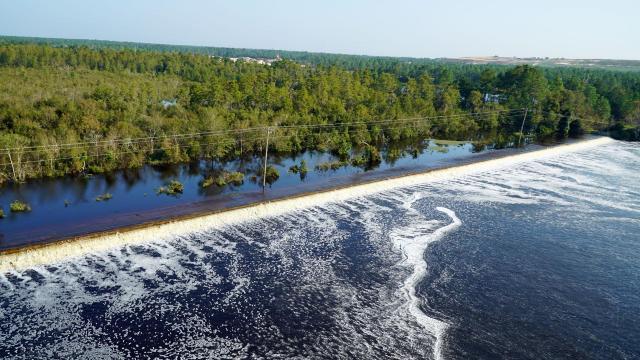 Florence impacts Sutton Lake