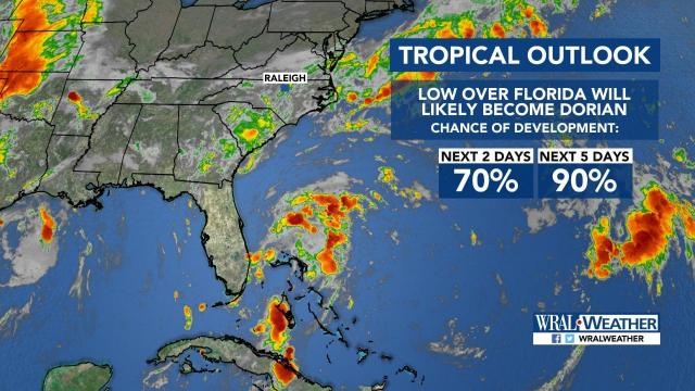 WRAL Weather tropical update:Tropical Depression #5 :: WRAL com