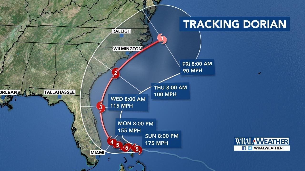 Hurricane Dorian maintains Category 4 status, potential path