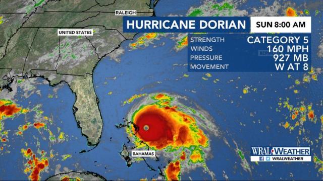 Hurricane Dorian intensifies to Cat. 5