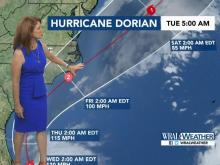 5 a.m. update: Hurricane Dorian expected to impact NC coast Thursday, Friday
