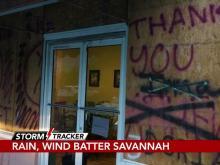 Savannah residents hunkering down as Hurricane Dorian blows by