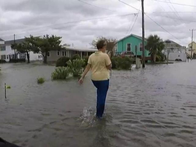 First look: Atlantic Beach flooded from Hurricane Dorian