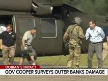 Gov. Cooper speaks after seeing damage from Hurricane Dorian