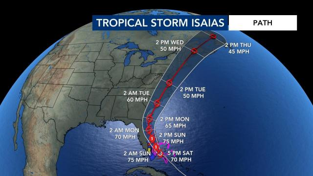 Isaias remains tropical storm, could become hurricane again ...