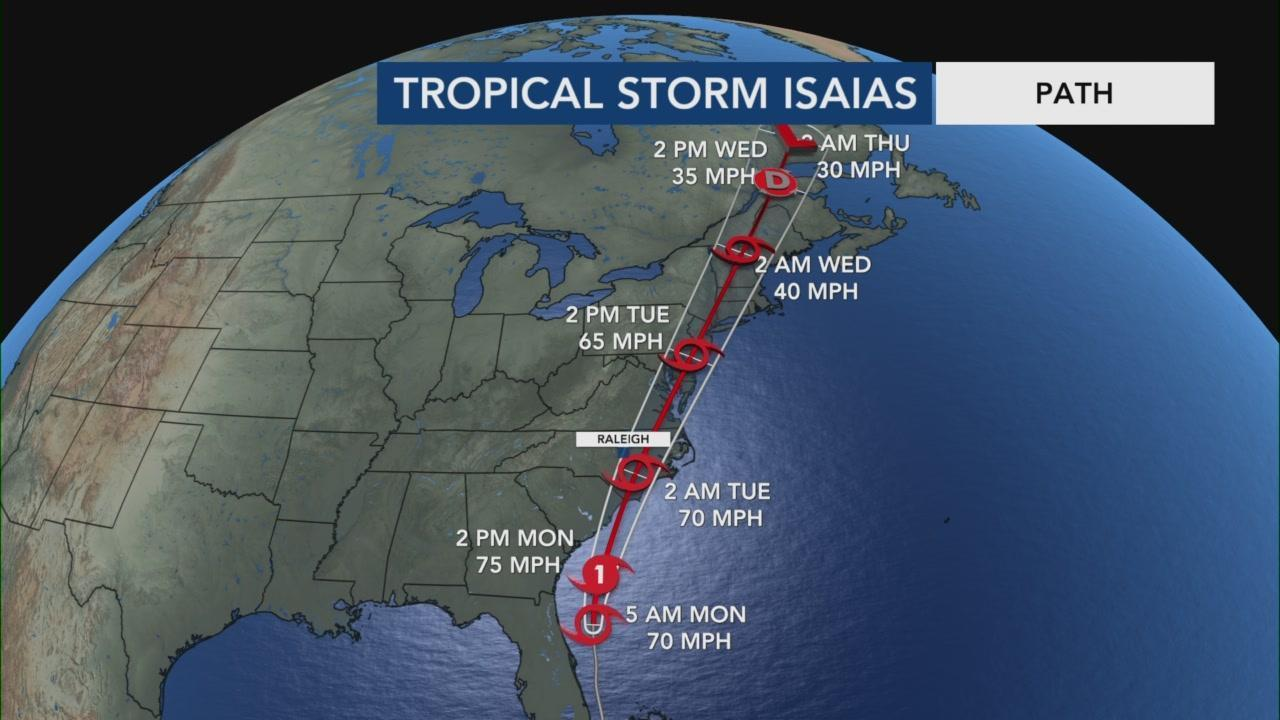 Isaias Forecast To Reach Hurricane Strength Make Landfall In Myrtle Beach Monday Wral Com