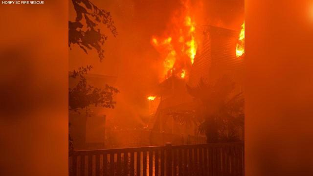 Multiple fires spark in Ocean Isle Beach as Isaias moves on shore