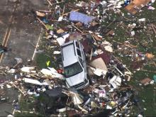 Sky 5: Tornado damage in Bertie County
