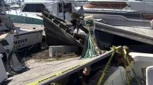 IMAGES: Isaias leaves 'giant pile of broken boats' at Southport marinas