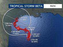 Tropical Storm Beta (Sept. 18, 2020, 5 p.m.)