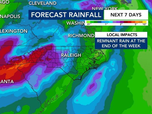 Tropical Storm Beta will bring rain to NC