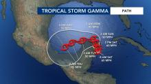 IMAGES: Tropical Storm Gamma weakens as it moves over Yucatan Peninsula