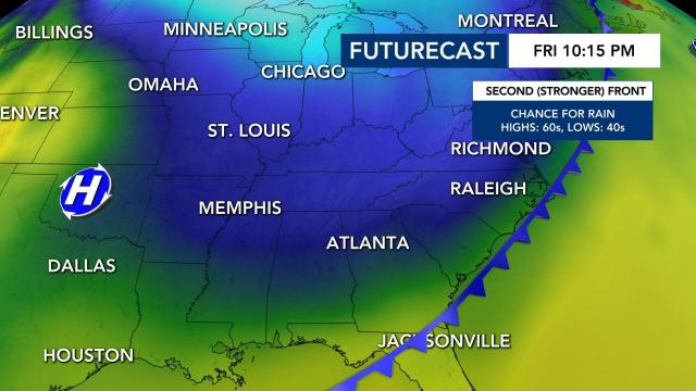 Cold-front coming Friday