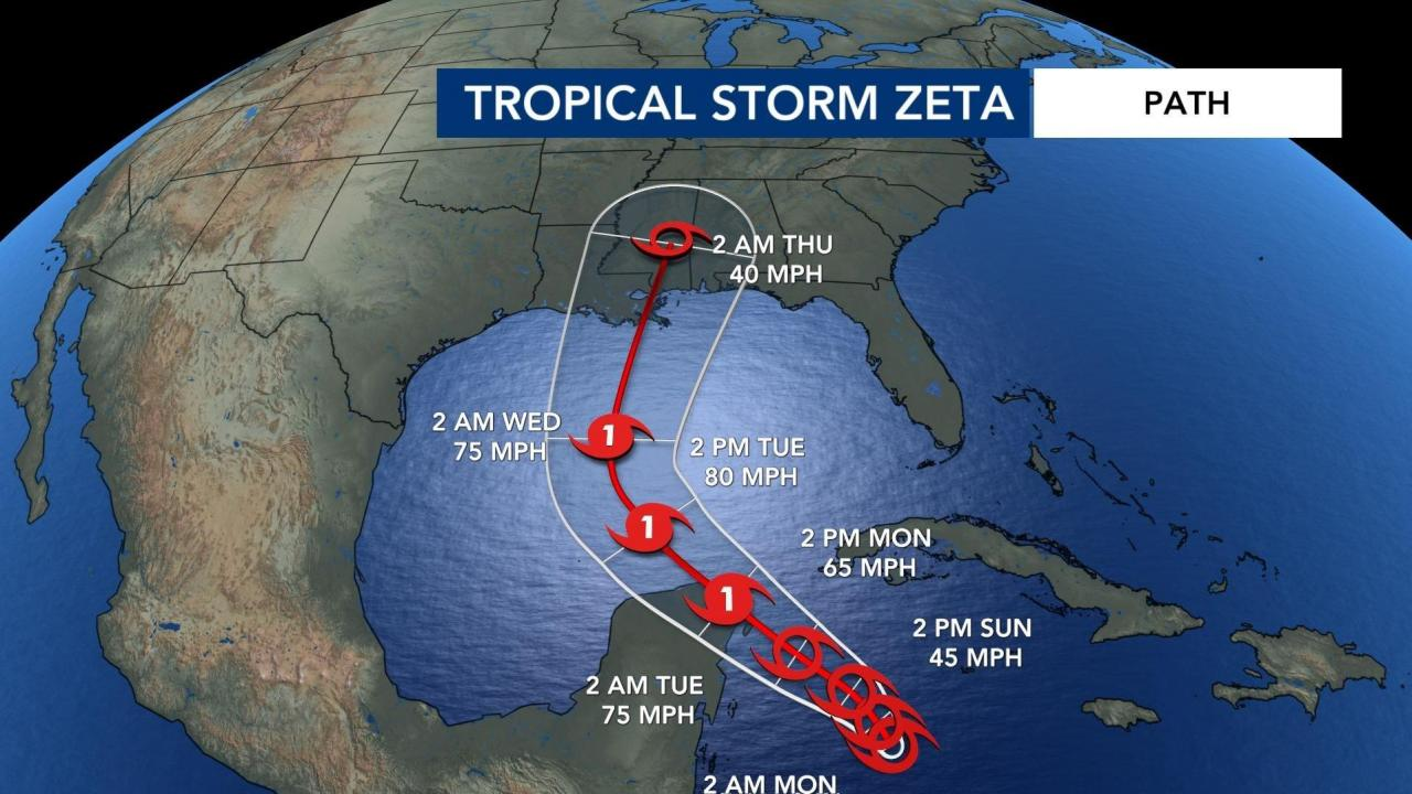 Zeta likely hurricane before hitting Yucatan, heading for US :: WRAL.com