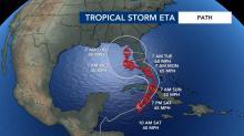IMAGES: Florida braces for rain from Hurricane Eta, Theta moves away from US
