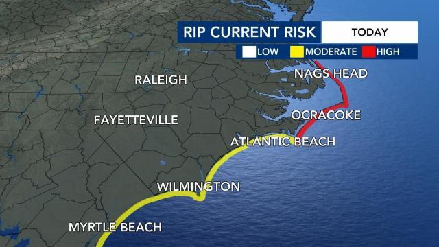 Rip current risk along NC coast