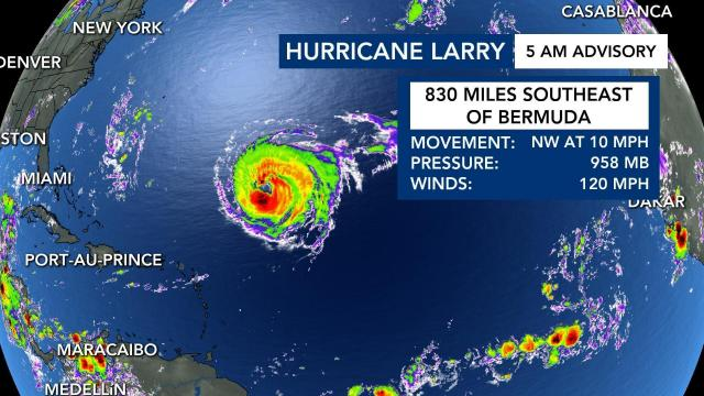 Hurricane Larry: 5 a.m. Sept. 7 advisory