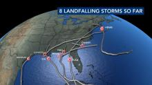 IMAGE: Eight storms have made landfall in the US so far this season. The average per year is 3