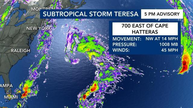 Subtropical Storm Teresa