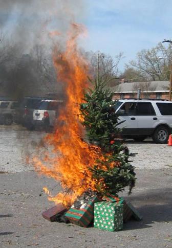 Christmas Tree Fire Demo
