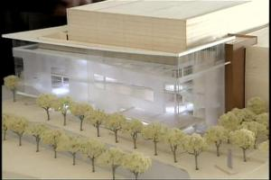 Architect's model of the Durham Arts Center. Officials broke ground Dec. 18.