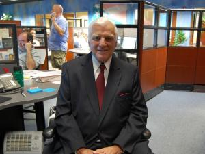 Charlie Gaddy visits WRAL on June 18, 2009.