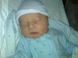 WRAL reporter Bryan Mims and his wife welcomed a baby boy, Asher Nathaniel, at 1:11 p.m. on Dec. 31, 2009.