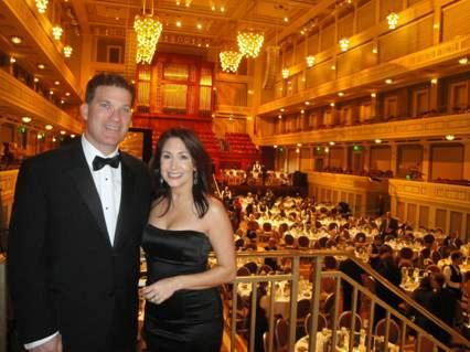 WRAL anchor/reporter Cullen Browder and his wife, Ela, at the 24th annual MidSouth Regional Emmy Awards ceremony in Nashville, Tenn., on Jan. 30, 2010. (Photo courtesy of Ela Browder)