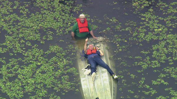 Today in Sky 5 we helped rescuers locate to boaters who were in the water for nearly an hour...