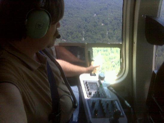 Trying to get air... A/C is not working in the helicopter... How quickly we get spoiled!