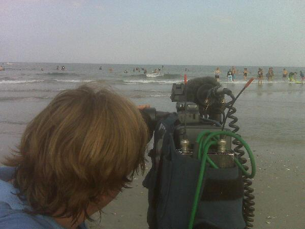Teaching blind, disabled and disadvataged kids to surf in Wrightsville Beach... These men are better than me.