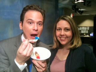 Brian Shrader and Kathy Hanrahan celebrate their birthday on Feb. 14, 2011.