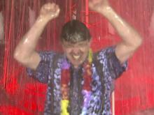 Greg Fishel in fountain