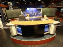 WRAL-TV's renovated newsroom