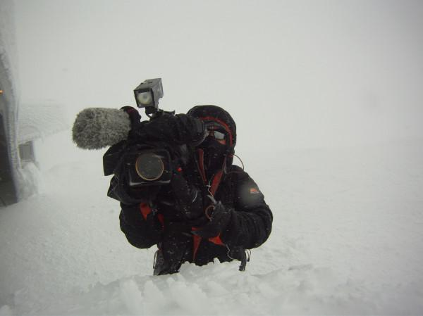 WRAL photojournalist Richard Adkins on Mount Washington