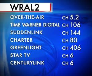 Where to find WRAL2