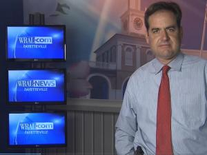 WRAL reporter Bryan Mims in the new Fayetteville bureau
