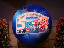 WRAL hosts the 25th annual Coats for the Children telethon on Dec. 13, 2013.