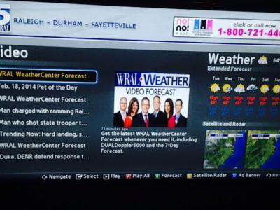 WRAL smart TV app screen capture